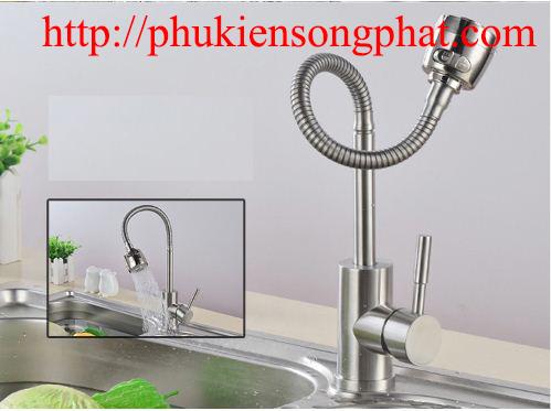 vòi rửa chén dẻo lò xo đa năng