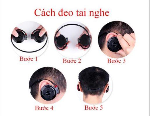 Cách đeo tai nghe 503 TF