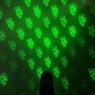 hình ảnh chiếu tia laser